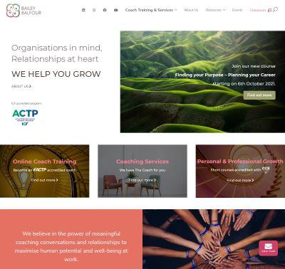 Bailey Balfour website designed by Redooor Studio