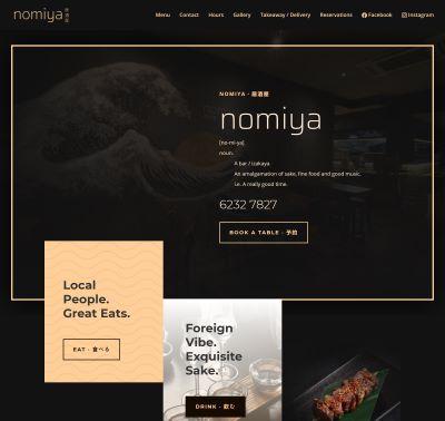 Nomiya website designed by Redooor studio